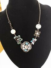 Anthropologie  Anna Sui Butterfly Whimsical Bauble Necklace 16""
