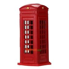 Retro Metal London Piggy Money Bank Telephone Booth Kid Coin Saving Pot Box Gift