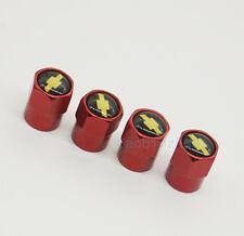 4x Red Car Accessories Wheel Cover Tire Valve Stem Caps Logo for Chevrolet