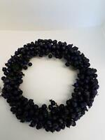 """Blueberry Candle Ring - 6.5"""" opening - Blueberries"""