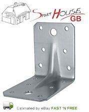 HEAVY DUTY REINFORCED GALVANISED ANGLE L BRACKETS CORNER BRACE TIMBER 2,5mm T