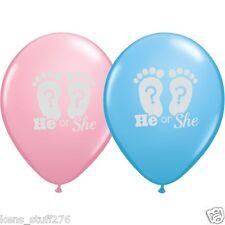 He or She Latex Balloons Gender Reveal Baby Shower Decor Boy or Girl - 10p Lot