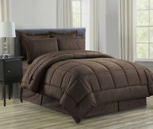 8-Piece Vine Design Bed-in-a-Bag Comforter Set All Color , All Sizes