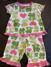 Carters 12 Month Toddler Baby Girl Front Pjs Pajamas, Pants Short Sleeves