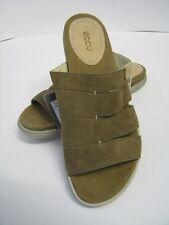 Ecco Damen  Pantoletten Sandale Leder  beige Gr. 37