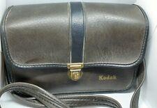 Kodak Vintage Leather Camera Bag W/ Shoulder Strap. Brown Leather Film Bag