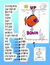 Coloring Book lær Engelsk Med Fisk Farge Ordene lære Begreper for Barn for...