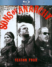 SONS OF ANARCHY THE COMPLETE FOURTH SEASON 4 FOUR BLURAY