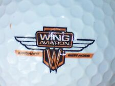 WING AVIATION AIRCRAFT SERVICES  LOGO GOLF BALL