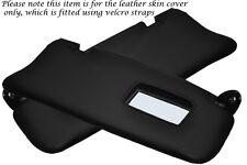 BLACK STITCHING FITS TOYOTA SUPRA MK3 86-93 2X SUN VISORS LEATHER COVERS