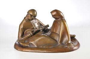 Ernst Barlach (1870-1938), Bronze, Russ. Liebespaar / Russian couple, 1908