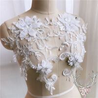 2 X Lace Applique Trim Embroidery Sewing Motif  DIY Wedding Bridal Crafts