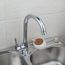 Deck Mounted Hot/Cold Swivel Kitchen Bar Sink Bathroom Basin Faucet Mixer Tap