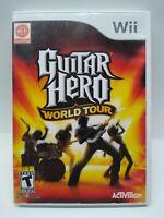 Guitar Hero: World Tour (Nintendo Wii, 2008)  Complete - free shipping!!
