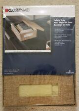 "NEW 2 2x Closetmaid Fabric Tray Light Brown 3153 4.25""x9.25""x13"" Storage Bin"