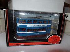 EFE 14301 Leeds Horsfield Carrito Poste Tranvía Azul Yorkshire Post De Noche
