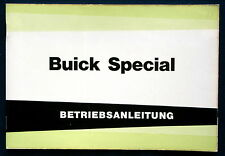 Owner's Manual * Betriebsanleitung 1963 Buick Special (D)