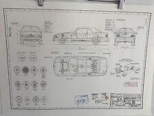 BMW E36 Cabrio  Ab 1994 Konstruktionszeichnung Blueprint