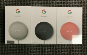 Google Nest Mini 2nd With Google Assistant - Chalk/Charcoal/Coral - Factory Seal