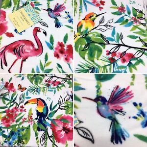 Cynthia Rowley Spa Beach Towel Tropical Flamingo Toucan Hummingbird 36x68 NEW