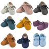 Cute Baby Kids Boys Girls Leather-Shoes Toddler Moccasin Soft Crib Shoes 0-18 M