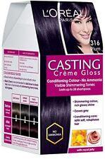 L'Oreal Paris Casting Creme Gloss Plum/Burgundy 316, 87.5g+72ml with Ayur Produc