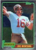 2010 TOPPS CHROME ROOKIE REPRINT CARD FOOTBALL CARD #216- HOF JOE MONTANA- 49ERS