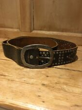 Jack Jones Studded Black Leather Mens Belt, M