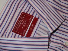 CHARLES TYRWHITT COLORFUL STRIPED L/S F/C FINE COTTON DRESS SHIRT. CT7236