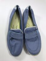 Grasshoppers Womens Size 11M Blue Loafers Slip On Casual Wear Comfort Cushion