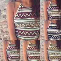 Summer Women Boho Tank Tops Bustier Bra Vest Crop Top Bralette Shirt Blouse Cami