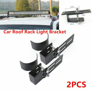 2PC Car SUV Roof Rack Light Bar Bracket Holder Bumper Mounting Kit Multifunction