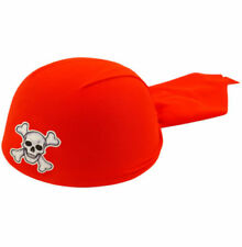 Sombreros, gorros y cascos piratas color principal rojo para disfraces y ropa de época