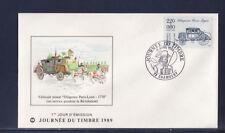 enveloppe 1er jour  journée du timbre  73  Chambéry    1989