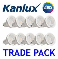 10x Kanlux PRO LED 7W 120 Degree GU10 Spot Light Bulb Lamp SMD 4000K Cool White