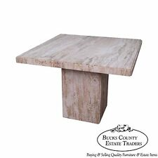 Marble square tables for sale ebay mid century italian travertine square marble dining table watchthetrailerfo