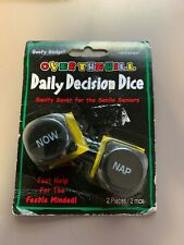 Over the Hill~Daily Decision Dice~from Goofy Gadgets~New~50th Birthday~
