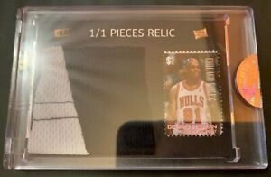 DENNIS RODMAN 1/1 POTP Shorts Relic & Vintage Stamp Card #1/1