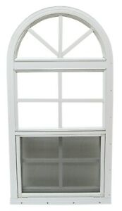 18 x 36  Shed / Playhouse window Arched top Vertical Slider TEMPERED GLASS