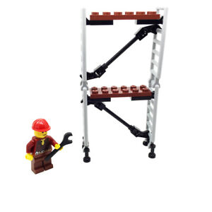 LEGO Construction Painter Scaffold Ladder with Minifigure Spanner City Town