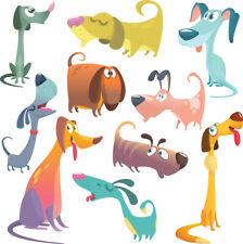 Dogs Bedroom wall / toy box stickers Vinyl Baby Nursery Childrens Window  animal