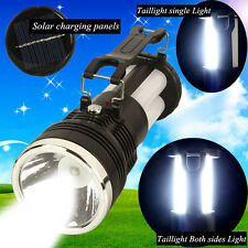 Outdoor Portable Solar Powered 24SMD Lead Acid Battery Camping Torch Flashlight