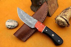 MH KNIVES CUSTOM HANDMADE DAMASCUS STEEL FULL TANG HUNTING/SKINNER KNIFE D-83M