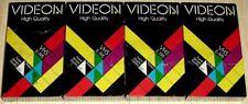 NEU, OVP 4x Videokassetten - VIDEON VHS E-195 High Quality Stereo HIFI Super