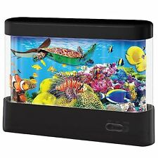 Novelty Led Animated Scene Marine Fish Aquarium Tank Mood Night Light Table Lamp