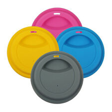 5pc/Set 9cm Eco-friendly Reusable Silicone Coffee Milk Cup Mug Lid Cover Kit
