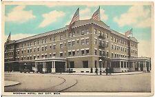 Wenonah Hotel in Bay City MI Postcard 1924