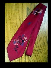 Mens Vintage 1950's Sports Baseball Neck Tie