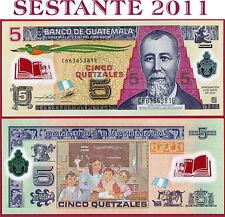GUATEMALA  - 5 QUETZALES 2.5. 2012 - P 122c NEW -  POLIMER -  FDS / UNC