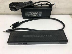 HP Elite ThunderBolt 3 Docking Station HSTNN-CX01 P5Q58UT#ABA w Power Adapter